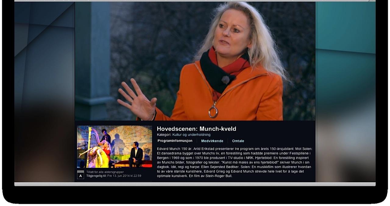ELLEN INTERVJUES PÅ NRK TV AV ARILD ERIKSTAD VED MUNCHS ATELIER PÅ EKELY